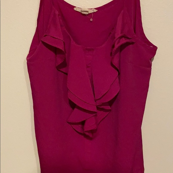 Forever 21 ruffle tank top, hot pink